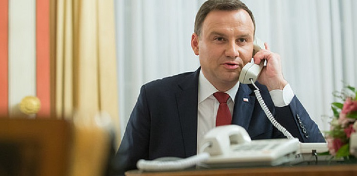 Prezydent prowadzi ważne rozmowy z przywódcami państw przed swoją wizytą w USA - zdjęcie