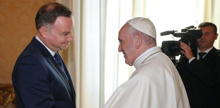 Prezydent Andrzej Duda na audiencji u papieża Franciszka - zdjęcie