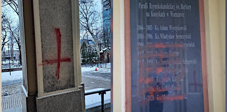 Czyste diabelstwo! Dewastacja kościoła w Warszawie: Odwrócone krzyże i błyskawice - zdjęcie
