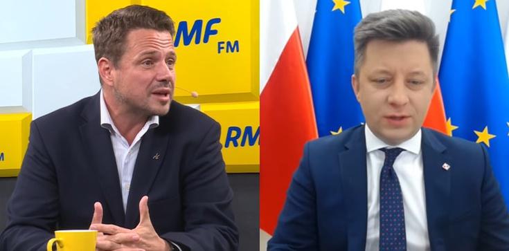 Trzaskowski chce wykorzystać białoruską opozycję do partyjnych gierek. Jest komentarz szefa KPRM - zdjęcie