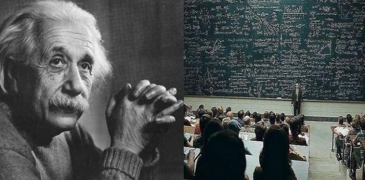 Dialog Einsteina (?) z niewierzącym profesorem - zdjęcie