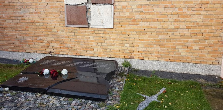 Zatrzymano wandala, który zniszczył epitafium smoleńskie - zdjęcie