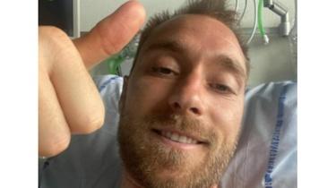 Piłkarz Christian Eriksen przesyła podziękowania ze szpitala - miniaturka