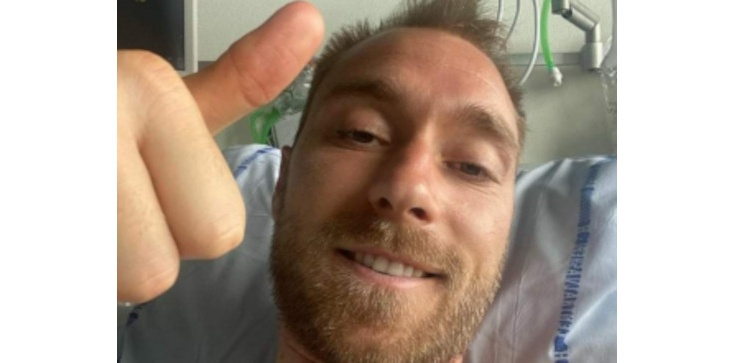 Piłkarz Christian Eriksen przesyła podziękowania ze szpitala - zdjęcie