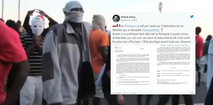 Czeczen, który ściął głowę nauczycielowi, miał wcześniej trafić do Polski - zdjęcie