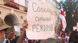 Akcja solidarności z Białorusią w Kijowie. Jest kilkunastu zatrzymanych  - miniaturka