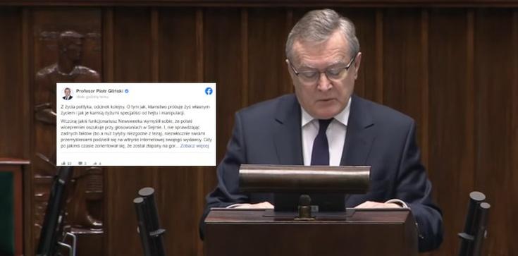 Prof. Gliński ripostuje ,,Newsweeka'': Honor u was nie istnieje  - zdjęcie