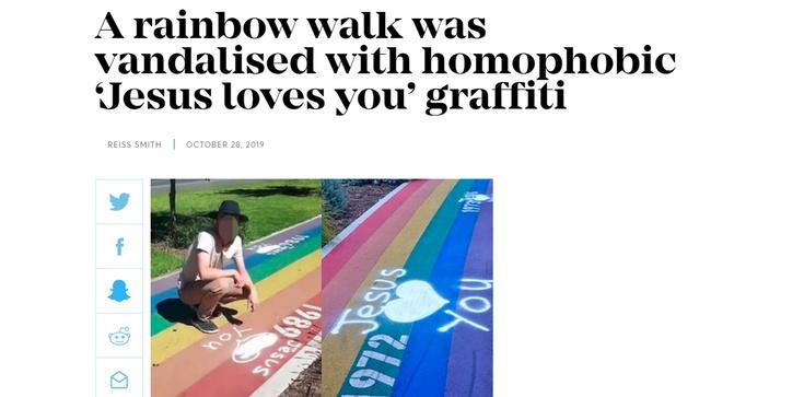 Australia: Napis Jezus Cię kocha uznany za homofobiczny - zdjęcie