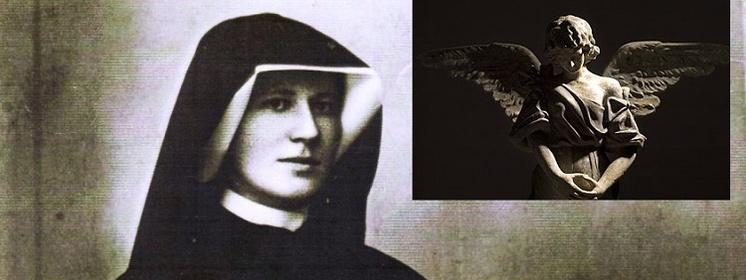 Znalezione obrazy dla zapytania święta Faustyna i Anioł