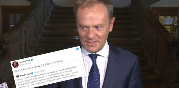 Donald Tusk broni Giertycha: ,,Nie myliłem się…''  - zdjęcie