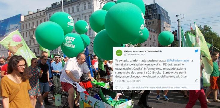 Zieloni dementują informacje o swoim stanowisku ws. awarii w ,,Czajce'' – ,,To oświadczenie sprzed roku''  - zdjęcie
