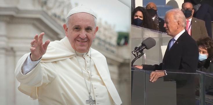 Papież skierował życzenia do Joe Bidena - zdjęcie