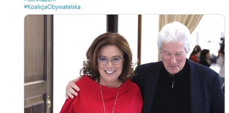 Ależ 'zabłysnął'! Kidawa-Błońska z Richardem Gerem. Misiło: Pretty woman! - zdjęcie