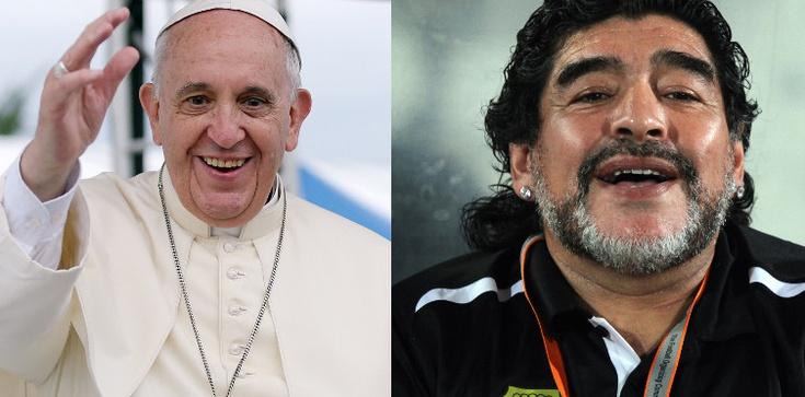 Maradona na zaproszenie papieża Franciszka zagra w Rzymie! - zdjęcie