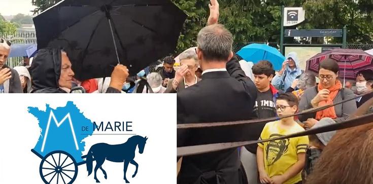 """(Wideo) Francuscy pątnicy piszą maryjne """"M"""" na mapie kraju - zdjęcie"""