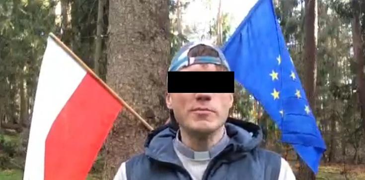 Trzykrotnie spalił polską flagę. Teraz usłyszał zarzuty - zdjęcie