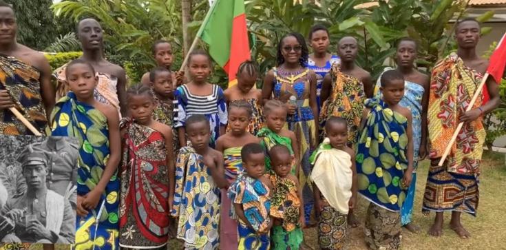 Wzruszające! Dzieci z Kamerunu śpiewają ,,Pieśni Legionowe'' - zdjęcie