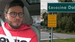 Homoaktywista znowu montuje tabliczki z napisem ,,Strefa wolna od LGBT''  - miniaturka