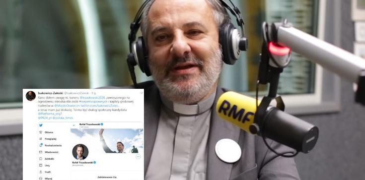 Trzaskowski mówi o dialogu i blokuje ks. Isakowicza-Zaleskiego na Twitterze - zdjęcie