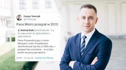 Tomczyk do prezydenta: ,,Pana Mistrz przegrał w 2010'' - miniaturka