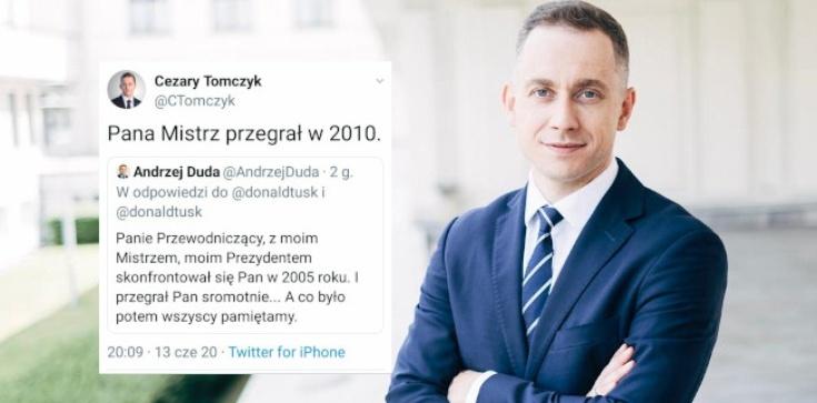 Tomczyk do prezydenta: ,,Pana Mistrz przegrał w 2010'' - zdjęcie