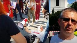 (WIDEO 18+) Dziennikarz TVN zatrzymany przez policję. Miał użyć przemocy wobec demonstranta - miniaturka