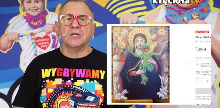 Tak WOŚP szydzi z katolików! Aukcja obrazu ,,Matki Bożej Kermitowskiej'' - zdjęcie