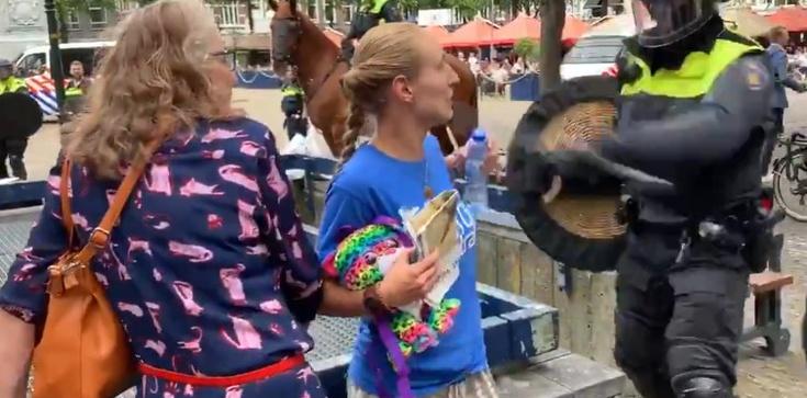 Tak aktywistów traktuje się w Holandii. Policja ,,pałuje'' kobietę [WIDEO] - zdjęcie