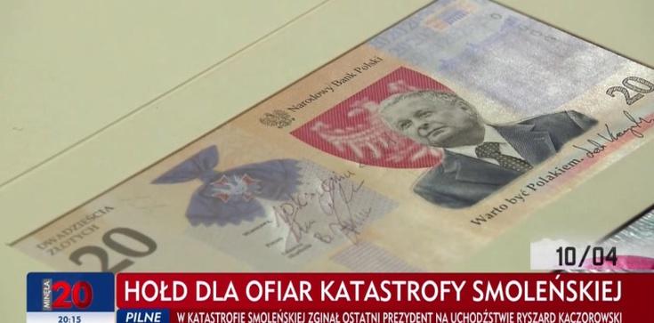 NBP wprowadza banknot z wizerunkiem śp. Lecha Kaczyńskiego. ,,Chcemy oddać hołd wielkiemu człowiekowi'' - zdjęcie