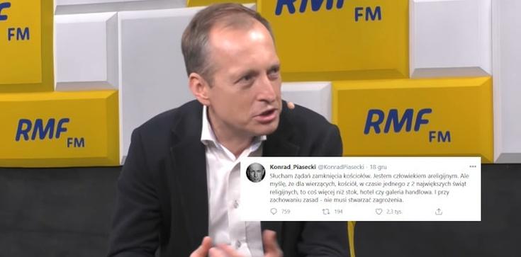 Opozycja oburzona wpisem Piaseckiego. Dziennikarz przypomniał, że kościół to nie stok - zdjęcie