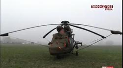 Helikopter w polu. Nie odleci, bo mgła - miniaturka