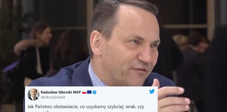 Sikorski drwi z Polaków, którzy domagają się reparacji od Niemiec - zdjęcie