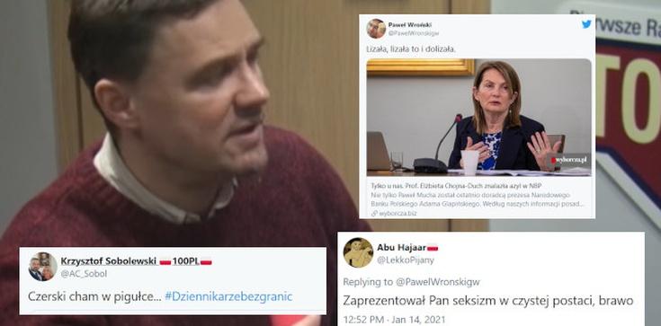 Seksistowski wpis dziennikarza ,,GW''. ,,Czerski cham w pigułce'' - zdjęcie