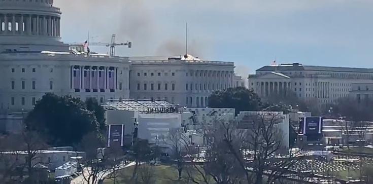 Pożar w pobliżu Kapitolu. Służby przeprowadziły ewakuację  - zdjęcie