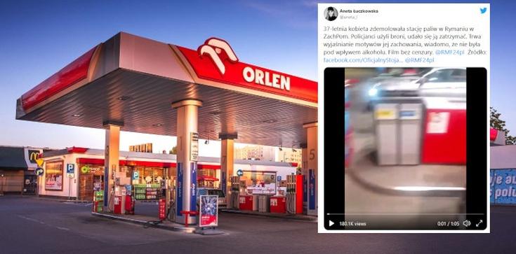 Tak kończy się ,,polityka'' opozycji! Kobieta zdemolowała stację Orlen. Padły strzały  - zdjęcie