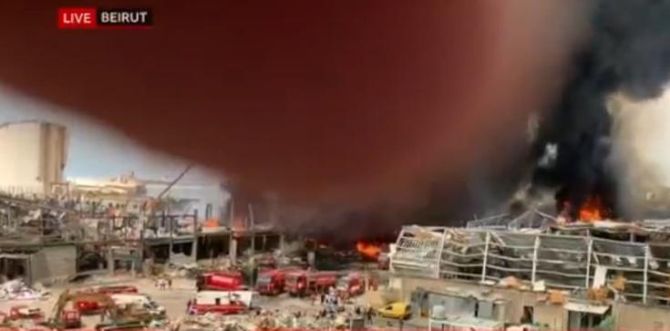 Kolejny pożar w porcie w Bejrucie  - zdjęcie