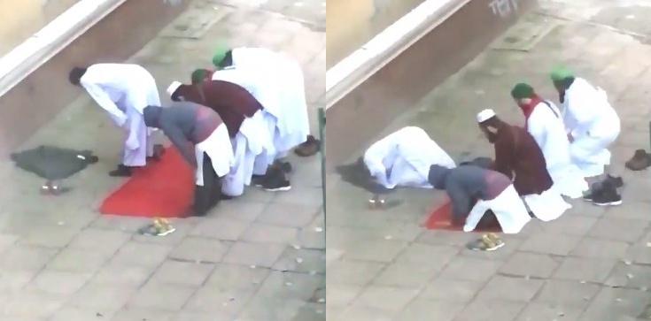 Paryż? Nie! To muzułmańskie modły w Warszawie - zdjęcie