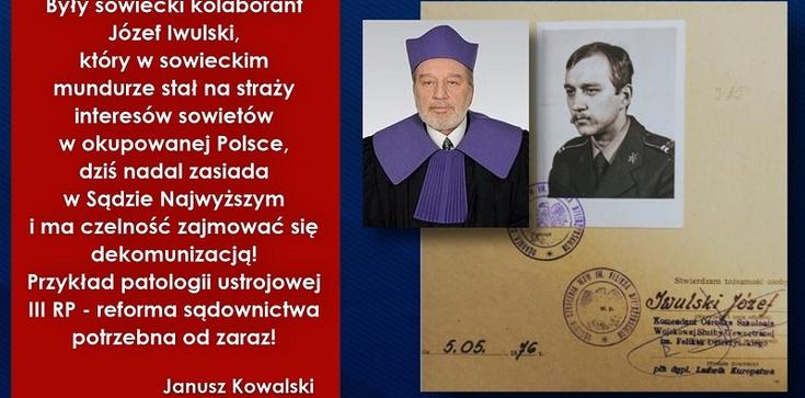 Kasta Basta! ,,Były sowiecki kolaborant'' ma jutro przewodniczyć komisji SN w sprawie SB-eckich emerytur - zdjęcie