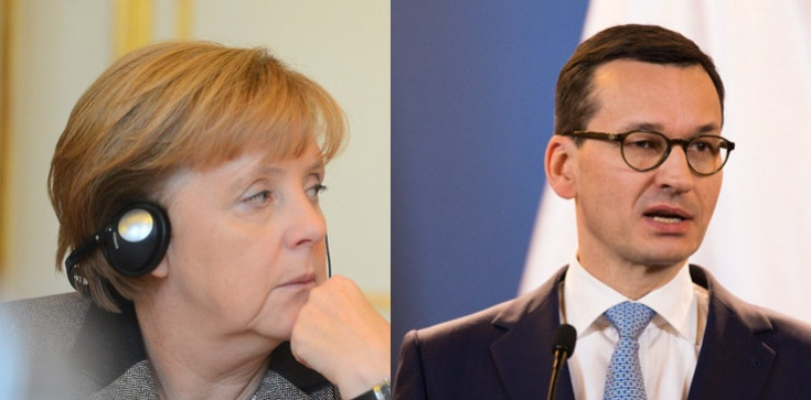 Budżet UE. Premier Morawiecki rozmawiał z kanclerz Merkel - zdjęcie