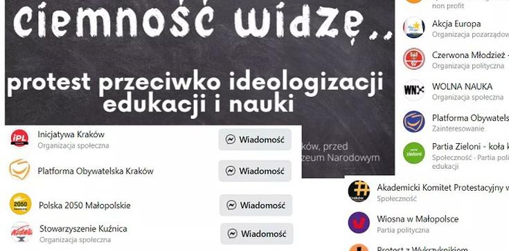 Absolutna perełka! Kraków. Protest przeciwko ideologizacji nauki, a organizatorzy … wszyscy na obcych garnuszkach - zdjęcie