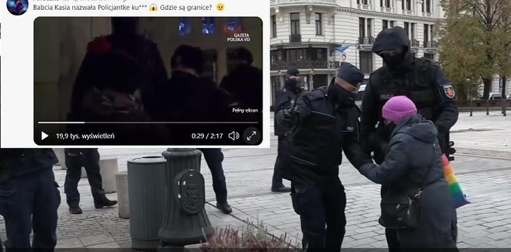 """""""Babcia Kasia"""" do policjantki: Jesteście po prostu zasranym gównem [Wideo] - zdjęcie"""