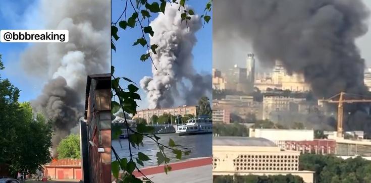 [Wideo] Moskwa. Magazyn materiałów wybuchowych w ogniu. Trwa akcja ratownicza - zdjęcie