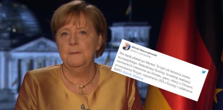 Ostatnie orędzie Merkel. Waszczykowski: Nie będę płakał  - zdjęcie