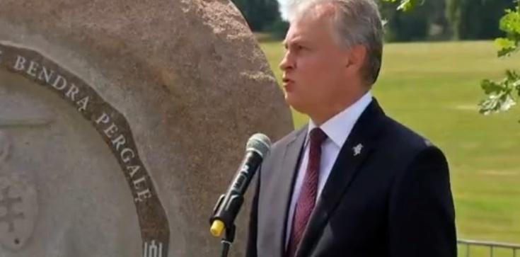 Prezydent Litwy: ,,To symbol odwagi i oddania naszych narodów'' - zdjęcie