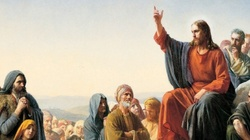 Ujrzycie niebiosa otwarte i aniołów Bożych wstępujących i zstępujących nad Syna Człowieczego - miniaturka