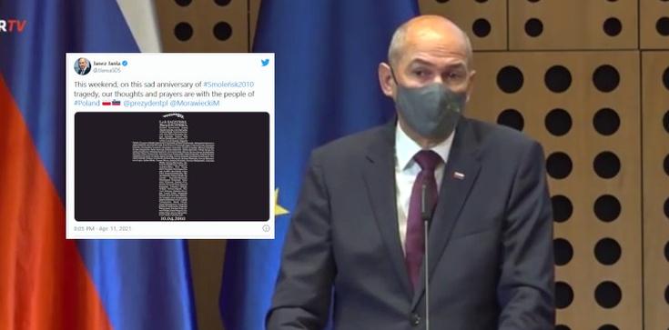 ,,Jesteśmy z Polakami''. Premier Słowenii upamiętnił ofiary Katastrofy Smoleńskiej  - zdjęcie