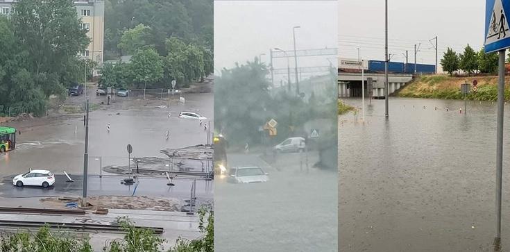 [Zdjęcia, Wideo] Powodziowa ,,apokalipsa'' na ulicach Poznania - zdjęcie