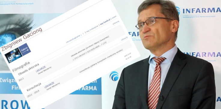 Prof. Gaciong, rektor WUM i… aktor w TVN - zdjęcie