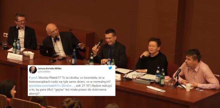 Korwin-Mikke o M. Płatek: ,,To ta idiotka…?'' - zdjęcie