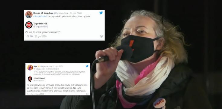 Strajk Kobiet rezygnuje z… postulatu aborcji.  Tygodnik ,,NIE'': Co, ku**a?! - zdjęcie